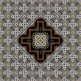 Seamless engraved metalwork pattern 011 Stock Photography