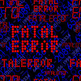 Seamless error message. Fatal error message. Seamless vector pattern with holographic effect Royalty Free Stock Photos