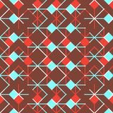 Seamless ethic pattern . Abstract background in bright colors. Vector illustration. A good choice for the background decoration, website, flyers, brochures and Stock Image