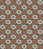 Seamless ethnic art geometric pattern background. Vintage Seamless ethnic art background retro colors Stock Photography
