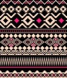 Seamless ethnic aztec pattern design. Stock Photos