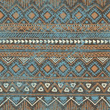 Seamless ethnic background in blue and brown colors. Vector illu Stock Photos