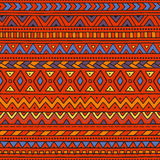 Seamless ethnic background. Geometric elements. Bright pattern Stock Images