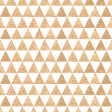 Seamless ethnic background simple triangles. Golden geometric sh Royalty Free Stock Images