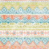 Seamless ethnic background. Vintage vector illustration. Seamless ethnic background. Geometric bright pattern. Handmade. Vintage vector illustration Royalty Free Stock Photo