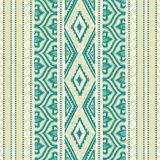 Seamless ethnic bohemian style ornament. Gray, white, mint and g Royalty Free Stock Photography
