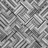 Seamless ethnic doodle black and white background Royalty Free Stock Image