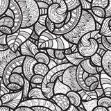 Seamless ethnic doodle pattern Stock Photo