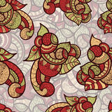 seamless ethnic doodle pattern Royalty Free Stock Photos