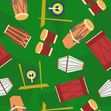 Seamless ethnic drums pattern Royalty Free Stock Photography