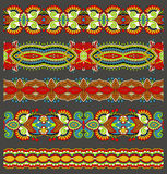 Seamless Ethnic Floral Paisley Stripe Pattern, Royalty Free Stock Photography