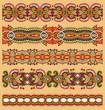 Seamless ethnic floral paisley stripe pattern, Royalty Free Stock Images