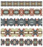 Seamless ethnic floral paisley stripe pattern, Royalty Free Stock Photo