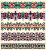 Seamless ethnic floral paisley stripe pattern, Royalty Free Stock Photos