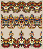 Seamless ethnic floral paisley stripe pattern Royalty Free Stock Photos