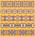 Seamless ethnic floral paisley stripe pattern Stock Images