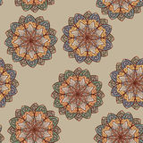 Seamless ethnic floral pattern Stock Image