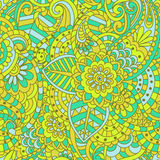 Seamless ethnic floral pattern Stock Photos