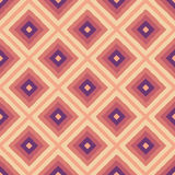 Seamless ethnic geometric background. Pink, purple diamond-shaped figures. Drawing by hand Stock Images