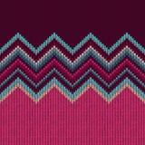 Seamless Ethnic Geometric Knitted Pattern Stock Image