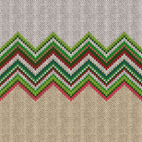 Seamless ethnic geometric knitted pattern Royalty Free Stock Image