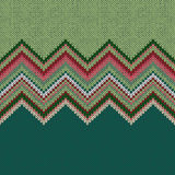 Seamless ethnic geometric knitted pattern Royalty Free Stock Photos