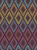 Seamless Ethnic Geometric Knitted Pattern Royalty Free Stock Photo