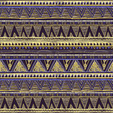 Seamless Ethnic Geometric Knitted Pattern. Violet Yellow Blue Horizontal Seamless Background Vector Stock Photo