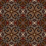 Seamless ethnic geometric old pattern. Abstract Tribal indian mosaic motif rug seamless pattern Stock Images