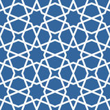 Seamless ethnic grating ornament - starry arabian pattern Royalty Free Stock Images