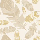 Seamless ethnic Indian feathers plumage  pattern Stock Images