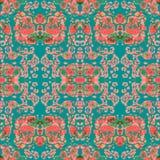 Seamless ethnic kaleidoscope pattern. Royalty Free Stock Photography