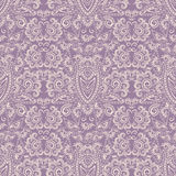 Seamless ethnic monochrome lilac pattern . Vector background. Royalty Free Stock Image