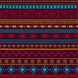 Seamless ethnic ornament. Aztec and tribal motifs. Ornament draw Stock Images