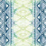 Seamless ethnic ornament. Watercolor texture. White and blue gra. Dient. Striped pattern. Vector illustration Royalty Free Stock Image
