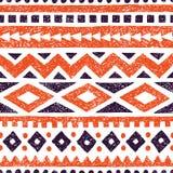 Seamless ethnic pattern. Aztec and tribal motifs. Striped summer. Print. Vintage geometric ornament. Vector illustration royalty free illustration