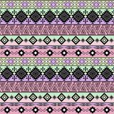 Seamless ethnic pattern.  Background with horizontal stripes. Stock Photos