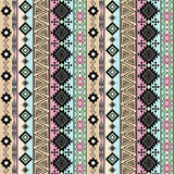 Seamless ethnic pattern.  Background with vertical stripes. Stock Photos