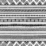 Seamless ethnic pattern. Black and white geometric pattern.. Print for your textile. Vector illustration Royalty Free Stock Image