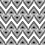 Seamless ethnic pattern. Black and white vector illustration Stock Image