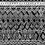 Seamless ethnic pattern. Black and white vector. Seamless ethnic pattern. Black and white vector illustration Royalty Free Stock Images