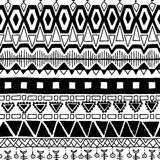 Seamless ethnic pattern. Black and white vector. Seamless ethnic pattern. Black and white vector illustration Royalty Free Stock Photos