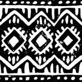 Seamless ethnic pattern. Black and white vintage background. Gru. Nge texture. Vector illustration vector illustration