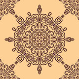 Seamless ethnic pattern of circular. Seamless patt Royalty Free Stock Photography