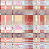 Seamless ethnic pattern with decorative elements  background . Royalty Free Stock Images