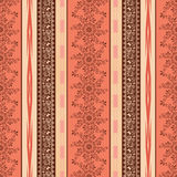 Seamless ethnic pattern with decorative elements  background . Stock Photo