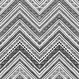 Seamless ethnic pattern drawn by hand. Black and white vector il. Lustration. Horizontal geometric strip Royalty Free Stock Photo