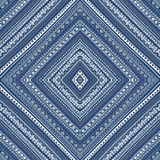 Seamless ethnic pattern drawn by hand. Mosaic of geometric elements. Vector illustration. Blue, white and gray. Elegant pattern Stock Photography