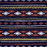 Seamless ethnic pattern drawn by hand. Multicolored geometric el Stock Image