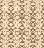 Seamless ethnic pattern with figures like Native Americans tipi Royalty Free Stock Photo